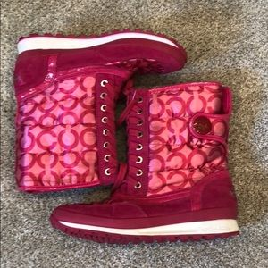 Coach pink Dorean booties